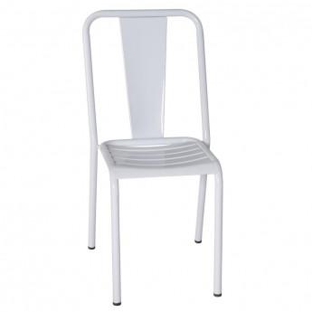 Chaise en Métal - Blanc