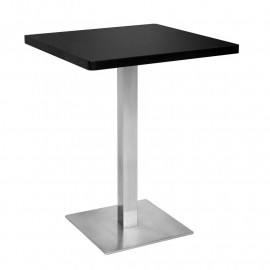 Table de bar - Table Bistrot noire 60x60x75