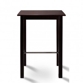 Table de bar Bistrot table en pin massif - couleur wengé 75x75