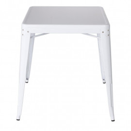 Table de bar en métal – Blanc