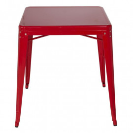 Table de bar en métal - Rouge