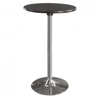 Table haute de bar chromée noire