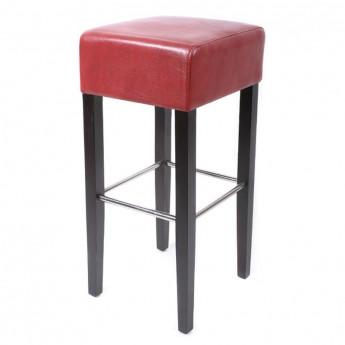 Tabouret de bar Elegancia bois de hêtre massif wengé et rouge