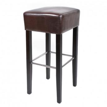 Tabouret de bar Elegancia bois de hêtre massif wengé et brun