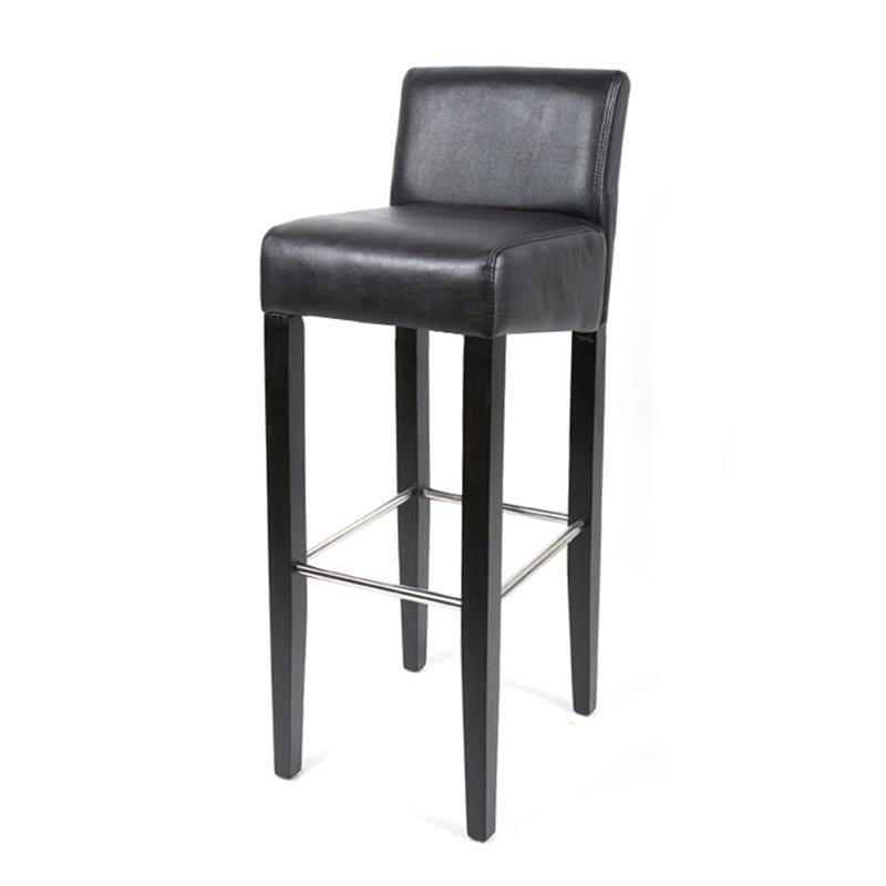 tabouret de bar venesia bois de h tre massif weng et noir. Black Bedroom Furniture Sets. Home Design Ideas