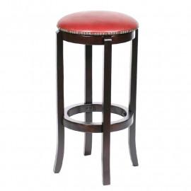 Tabouret de bar Manita bois de hêtre massif wengé et rouge