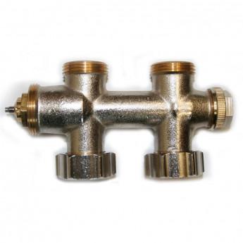 Multiblock Thermostatventil - Durchgang - Mittelanschluss - 1/2- M30 x 1,5 mm