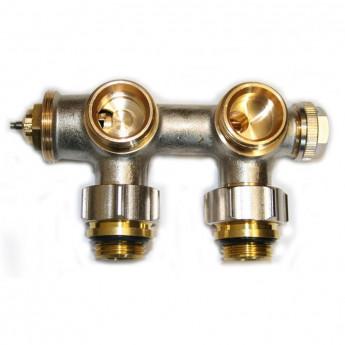 Multiblock Thermostatventil - Eck - Mittelanschluss - 1/2- M30 x 1,5 mm