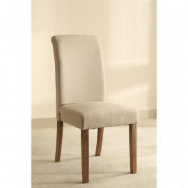 Chaise Dolo bois de hêtre massif rembourrée beige