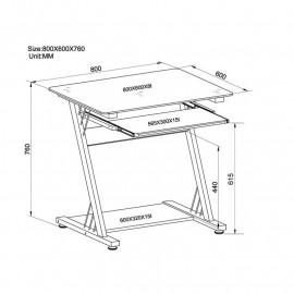 Bureau informatique Chêne / Blanc aspect bois