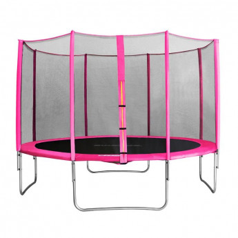 MyJump 4,00 M Trampoline de jardin rose