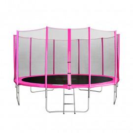 MyJump 4,30 M Trampoline de jardin rose - MYCO00720