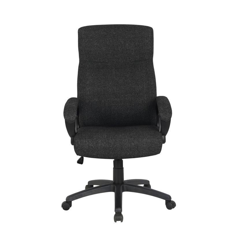 Chaise de bureau paras tissu noire for Chaise noire tissu