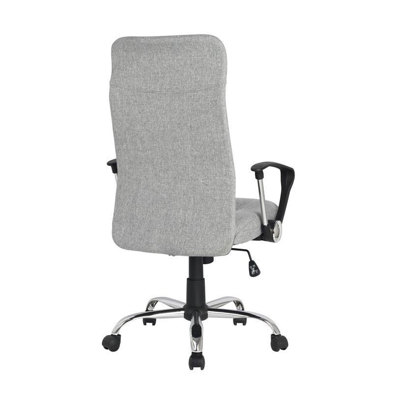 chaise de bureau pivotante lomi grise. Black Bedroom Furniture Sets. Home Design Ideas