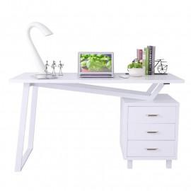 Bureau Informatique Design avec tiroirs de rangement - couleur blanc brillant
