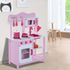 Cuisinière équipée rose CUISTO pour enfants