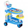 Chariot à Roulettes DOCTI Bleu pour jouer au Docteur