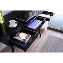 Bureau Informatique design noir brillant