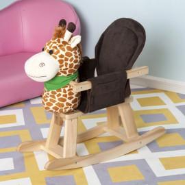 Petite girafe à bascule marron