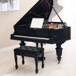 Milano - banquette noire pour piano