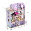 Maison de poupée en bois Eldoria rose