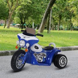 Moto électrique France bleu pour enfant