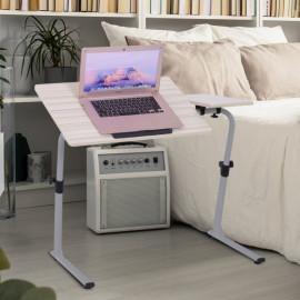 Table à bascule réglable de lit pour ordinateur chêne clair