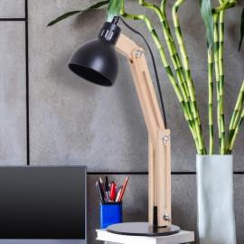 Lampe pour bureau couleur Bois et Noir