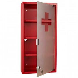 Armoire à pharmacie en acier Blokpil rouge
