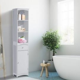 Meuble colonne de salle de bain Pillade blanc