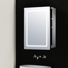 Armoire de salle de bain lumineuse Grégoire en acier