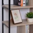 Bibliothèque multi-rangement France chêne et noir