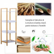 Rangement Antoinette salle de bain blanc en bambou