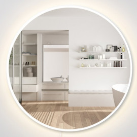 Miroir rond lumineux LED Anvers