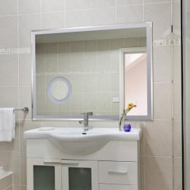 miroir LED grossissant de couleur blanc