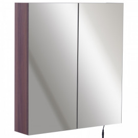 Armoire Murale Eloise à LED Marron