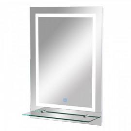 Elégant miroir LED blanc