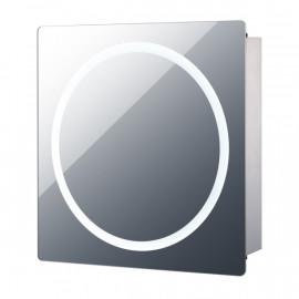 Miroir LED gris esthétique et pratique