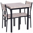 "Ensemble meuble ""Gracia"", table + 2 Chaises noir"