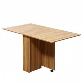 Table de Cuisine Pliable Sur Roulettes