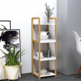 étagère bicolore ISAKO bambou et blanc