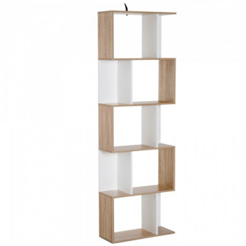 Meuble de bibliothèque Jasmine Multi-Rangements Blanc