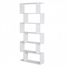 Bibliothèque Zig Zag 6 Niveaux Blanc