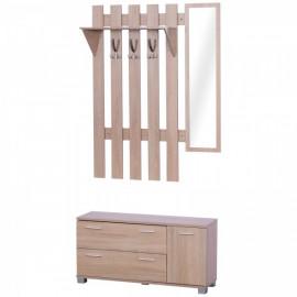 Ensemble de meubles d'entrée Franky de couleur chêne clair