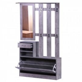 Ensemble meubles d'entrée Isabelle en bois gris