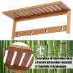 Porte manteau en bambou couleur bambou naturel
