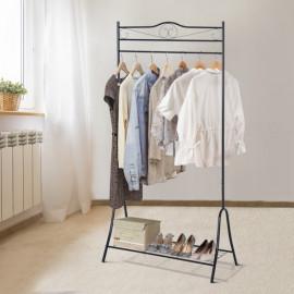 Penderie à Vêtements sur Pied Cristina Noir