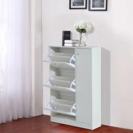 Commode pour chaussures en bois blanc
