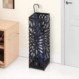 Porte-parapluies motif graphique ajouré Alix noir