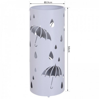 Porte-parapluies rond à motifs fantaisie Sybille gris